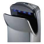 "World Dryer VMax Hand Dryer, High Impact ABS, 26 1/4"" x 9 1/4"" x 16"", Silver"