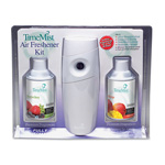 Timemist Metered Aerosol Fragrance Dispenser Kit with 2 Refills, White