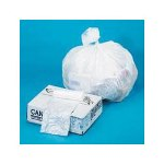 Webster Ultra Plus Recycled Waste Can Liners, 10 Microns, 30 Gallon, 500/Carton