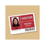 Avery Self Adhesive Photo ID Badge Labels, 2 1/4 x 3 1/2, White, 500 Labels/Box