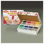 Binney and Smith Washable Markers 10 Color Classpack