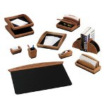 Rolodex Executive Woodline II Front Loading Single Desk Tray, Cherry Finish, Letter