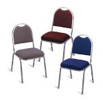 Alera 69200 Series Stacking Chair, Gray Fabric