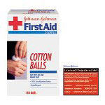 Johnson & Johnson Cotton Balls for First Aid and Infant Care, Sterile, 130/Package