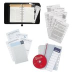 Franklin Covey 7 Habits Day Planner Deluxe Starter Set, Nappa Leather Binder, 5 1/2x8 1/2