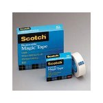 "3M Removable Tape, 3/4"" x 1296"", 1"" Core, Transparent"