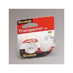 "3M Transparent Glossy Tape in Self Dispenser, 1/2"" x 450"""