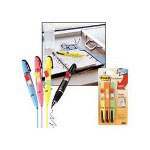 3M Flag Pen and Highlighters, Flag Refill Pads, Yellow Highlighters, 3 per Pack