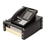 Ideastream Snap N Store Telephone Stand with Storage, 11w x 11d x 5h, Black