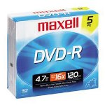 Maxell HD DVD R Recordable Disc, 15 GB, 1x, Silver