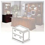 Mayline Lateral File, Toscana Series, 36w x 24d x 29 1/2h, Mahogany