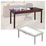 Mayline Table Desk, Toscana Series, 72w x 36d x 29 1/2h, Mahogany