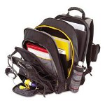 Targus  TCG650 CityGear Chicago Notebook Backpack, 15w x 9-1/2d x 18-3/4h, Black/Gray/Yellow