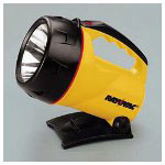 Rayovac industrial 6 volt flashlight with adjustable stand