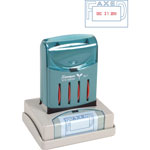 Shachihata. U.S.A. VersaDater Message Dater, FAXED, Blue/Red