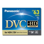Panasonic AY DVM63HD - Professional Quality - Mini DV tape - 1 x 63min