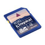 Kingston Flash Memory Card - 4 GB - SDHC