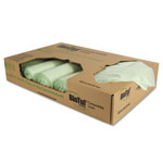 Heritage Bag BioTuf Compostable Can Liner, 48 Gal, Light Green