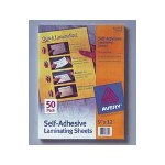 Avery Clear Self Adhesive Laminating Sheets, 3 mil., 9 x 12, 10 Sheets per Pack