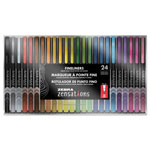 Zebra Pen Zensations Fineliner, Assorted Ink, Fine, 24 Per Pack