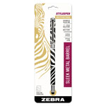 Zebra Pen Stylus/Pen Combination, 1.0mm, Capped, Zebra Print