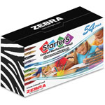 Zebra Cadoozles Starter MP, 2.0MM, 54Pcs, Assorted