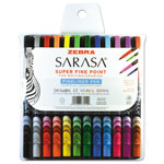 Zebra Pen Sarasa Porous Pen, .8 mm, Fine, Assorted Ink, 12/Set