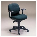 Hon Sensible Seating® Mid Back Pneumatic Swivel Chair, Persian Green