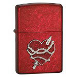 Zippo Candy Apple Red, Heart Attack Emblem