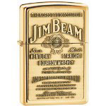Zippo High Polish Brass, Jim Beam Brass Emblem