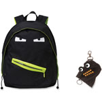 ZIPIT Grillz Backpack/Mini Pouch, 2Pcs, 12/ST, Black