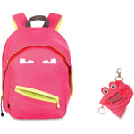 ZIPIT Grillz Backpack/Mini Pouch, 2Pcs, 12/ST, Neon Pink