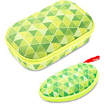 ZIPIT Colorz Triangles Set w/Box Pencil Case, 2Pcs, Green