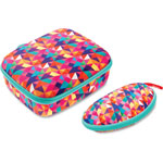 ZIPIT Colorz Lunch Box w/Glasses Set, 2 Pcs, Pink