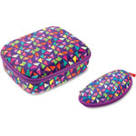 ZIPIT Colorz Lunch Box w/Glasses Set, 2 Pcs, Purple