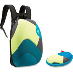 ZIPIT Shellbags Backpack w/Glasses Case, 2 Pcs, Shapes/Ast