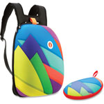 ZIPIT Shellbags Backpack w/Glasses Case, 2 Pcs, Ast