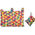 ZIPIT Colorz Three-Ring Mini Pouch, 2Pcs, Orange/Yellow