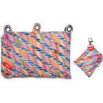 ZIPIT Colorz 3 Ring Pouch/Mini Pouch, 2PC, Stripes/Multi