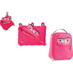 ZIPIT Talking Monstar Lunch Bag Set, 3PC, Pink
