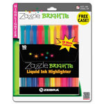 Zebra Pen Liquid Highlighter, Waterbased, Chisel Point, Assorted Colors