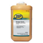 Zep Industrial Hand Cleaner, Gel, Orange, 1 gal Bottle, 4/Carton