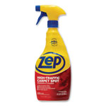 Zep Carpet Cleaner, High Traffic, Trigger Spray, 32oz., 12/CT