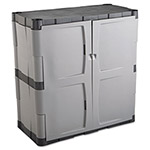 Rubbermaid Mica/Charcoal Two Shelf, Heavy Duty Storage Cabinet