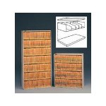 Tennsco Add A Stack Shelving System Filing Tiers & Dividers, 36w x 10h, Light Gray, 2/Ct