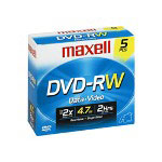Maxell DVD-RW X 5 - 4.7 GB - Storage Media