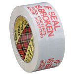 "Box Partners #3771 - 2"" x 110 Yards Printed Message Tape"