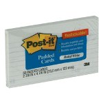 "Post-it® Super Sticky Card 3"" x 5"" White Ruled"