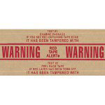 "Central™ 3"" x 450' ""Warning-Pilfer Proof"" Pre-Printed Reinforced Gum Tape Grade #260"