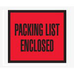 "Box Partners 4 1/2"" x 5 1/2"" Red ""Packing List Enclosed"" Full Face"
